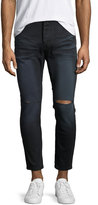 One Teaspoon Mr. Blues Whiskered Knee-Cut Jeans, Black