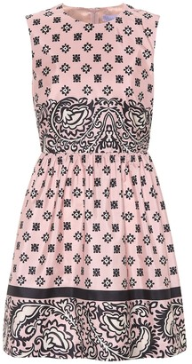 RED Valentino Floral-printed satin dress