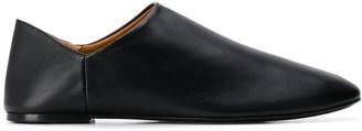 Joseph collapsable heel flat mules