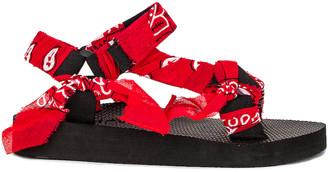 Arizona Love Trekky Bandana Sandal in Red Bandana | FWRD