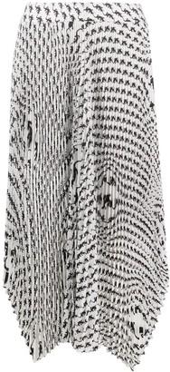 Marine Serre Asymmetrical Pleated Skirt