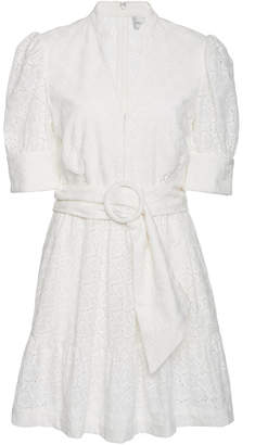 Rebecca Vallance Valentina Broderie Anglaise Cotton Mini Dress
