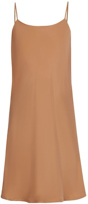 Two Sides Mini Slip Dress in Terracotta