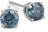 JCPenney FINE JEWELRY 1/2 CT. T.W. Color-Enhanced Blue Diamond Studs 10K White Gold