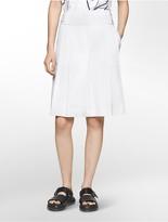 Calvin Klein Platinum Pleated Twill Culottes