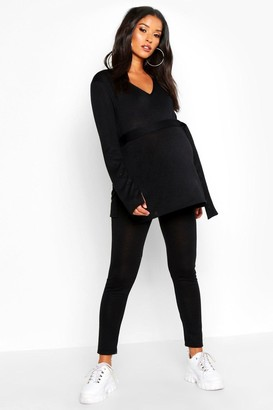 boohoo Maternity Side Split Lounge Set