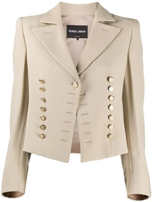 Giorgio Armani Fitted Military Jacket