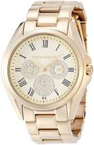 Vince Camuto Women's VC/5186CHGB Swarovski Crystal-Accented Gold-Tone Stainless Steel Watch