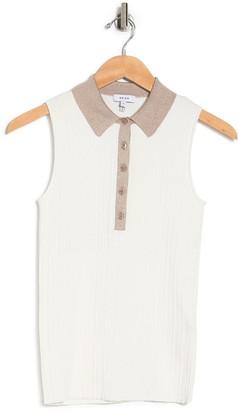 Reiss Yara Sleeveless Ribbed Polo Shirt