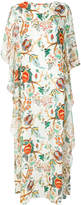 Alberta Ferretti floral flared maxi dress