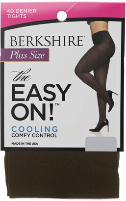 Berkshire Women's Plus Size The Easy On 40 Denier Microfiber Tights