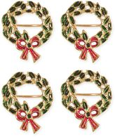 Christmas Wreath Napkin Rings in Gold (Set of 4)