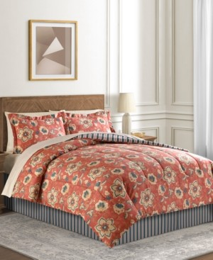 Fairfield Square Collection Francie 6-Pc. Reversible Twin Comforter Set Bedding