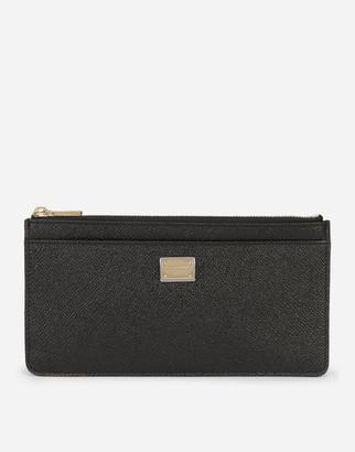 Dolce & Gabbana Large Dauphine Calfskin Card Holder With Plate