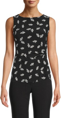 Anne Klein Sleeveless Side Twist Top