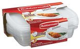 Rubbermaid TakeAlongs 3-7/10 Cup Divided Rectangle Containers 3-pk