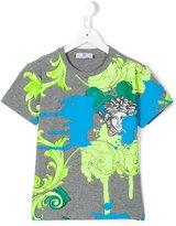 Young Versace - Medusa print T-shirt - kids - Cotton/Spandex/Elastane - 4 yrs