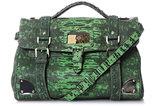 Lizard-print travel day bag