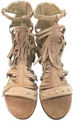 Stuart Weitzman \N Camel Suede Sandals