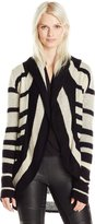 RD Style Women's Shawl Collar Colorblock Cocoon Sweater Cardigan