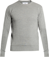 Ami Crew-neck pleated-knit sweater
