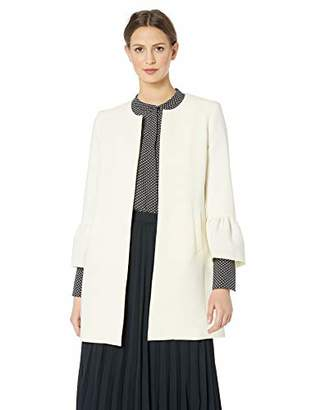 Nine West Women's Crepe Topper with Bell Sleeves