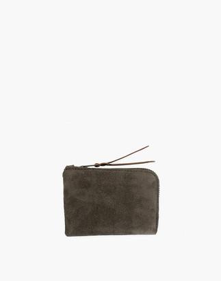 Madewell MAKR Suede Zip Slim Wallet