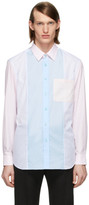 Burberry Pink and Blue Striped Chesterfield Shirt