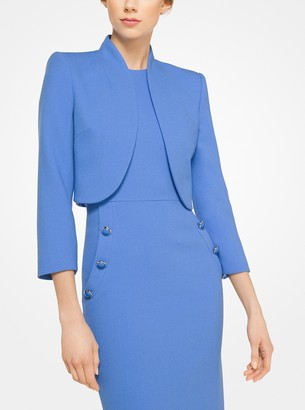 Michael Kors Stretch Boucle-Crepe Bolero Jacket
