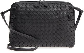 Bottega Veneta Nodini Woven Leather Crossbody Bag