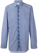 Paul Smith 'Dino' embroidered shirt - men - Cotton - 15 1/2
