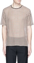 Acne Studios 'Redwood' gingham check open weave T-shirt
