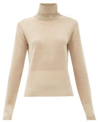 Altuzarra Lexia Metallic Roll-neck Sweater - Womens - Beige