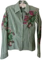 Escada Green Cotton Top for Women