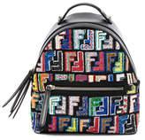 Fendi Mini FF Embroidered Backpack
