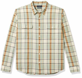 Lucky Brand Men's Long Sleeve Button Up Two Pocket Palisades Workwear Shirt