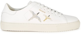 Axel Arigato Clean 90 White Embroidered Leather Sneakers