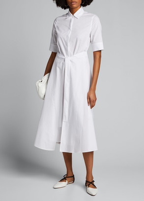 Rosetta Getty Cotton Apron-Wrapped Shirt