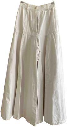 Chanel Ecru Denim - Jeans Trousers