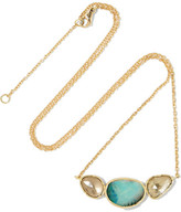 Brooke Gregson - Orbit 3 18-karat Gold, Opal And Sapphire Necklace - one size