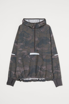 H&M Hooded popover running jacket