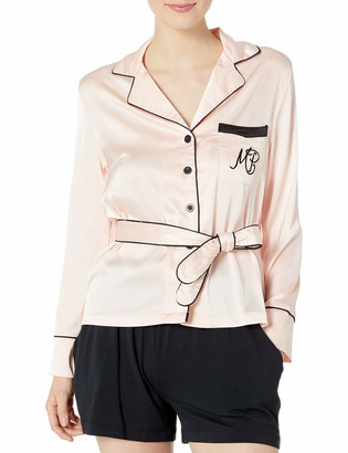MinkPink Women's Deep Sleep Satin Shirt