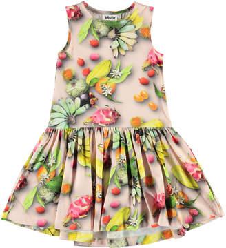 Molo Girl's Candece Fruit Print Sleeveless Dress, Size 2-12