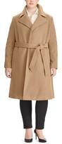 Lauren Ralph Lauren Plus Size Women's Wool Blend Wrap Coat