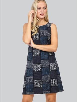 M&Co Izabel checked print shift dress