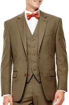 Izod Light Brown Sharkskin Suit Jacket - Classic Fit