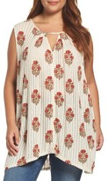 Lucky Brand Plus Size Women's Woodblock Print Tunic