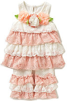 Rare Editions Baby Girls 3-24 Months Tiered Lace Dress & Ruffled Leggings