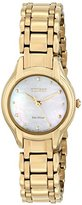 Citizen Eco-Drive Women's EM0282-56D Silhouette Analog Display Gold Watch