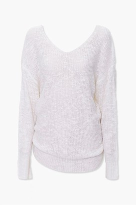 Forever 21 Twist-Back Knit Sweater